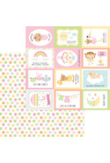 DOODLEBUG bundle of joy: cute as a button double-sided cardstock