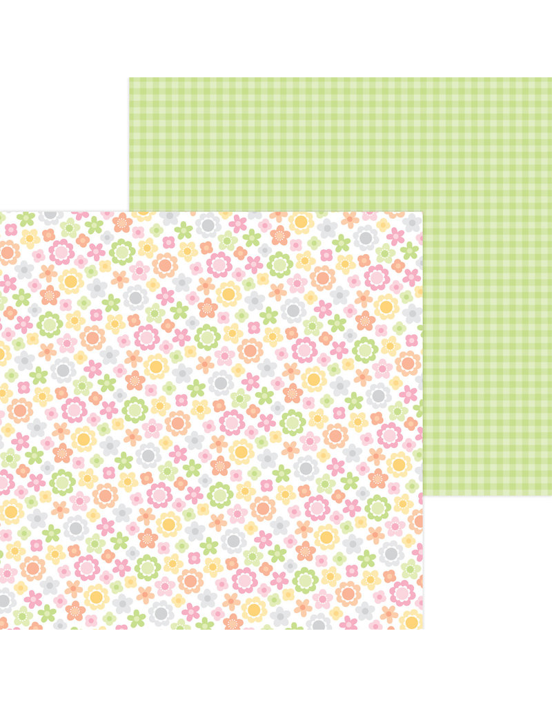 DOODLEBUG bundle of joy: baby blooms double-sided cardstock