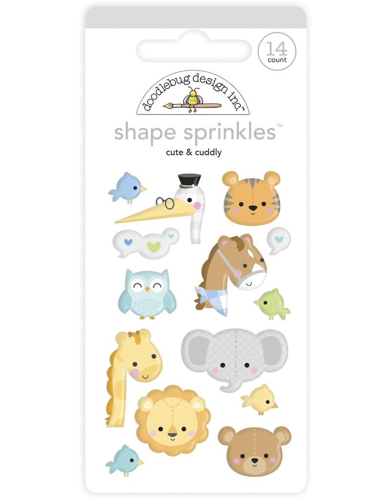 DOODLEBUG special delivery: cute & cuddly shape sprinkles