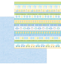 DOODLEBUG special delivery: it's a boy! double-sided cardstock