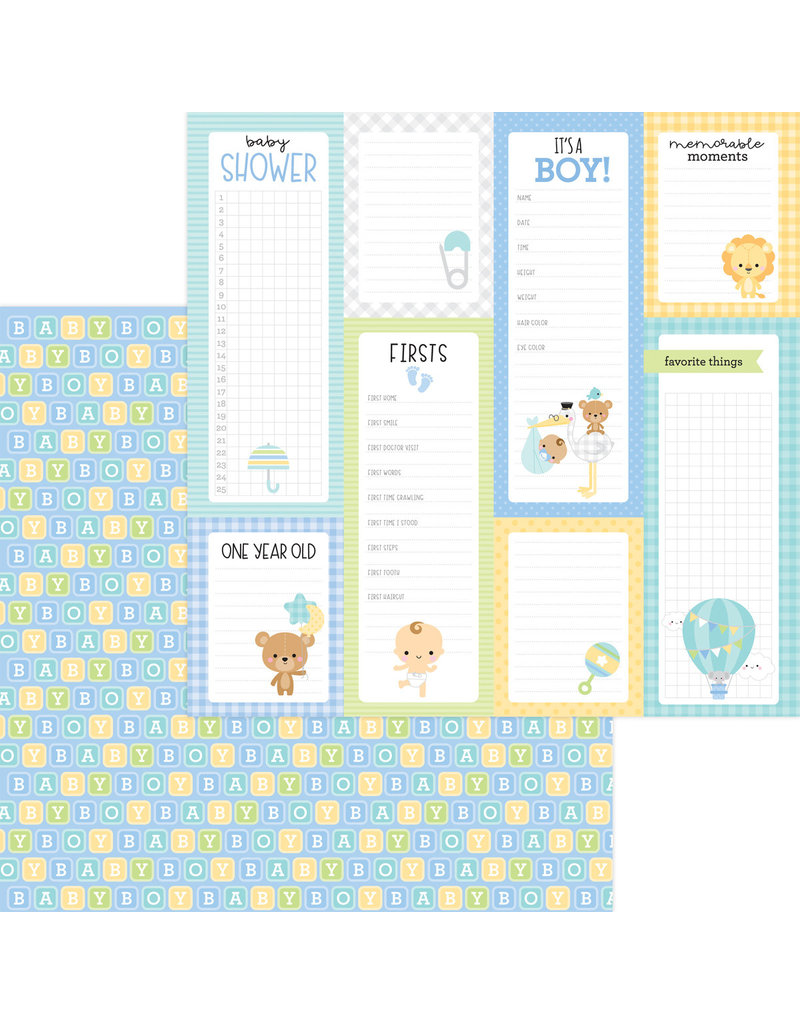 DOODLEBUG special delivery: baby blocks double-sided cardstock