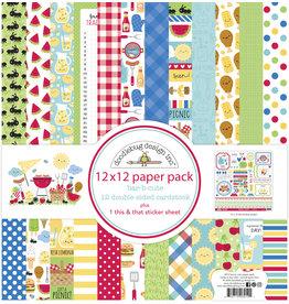 DOODLEBUG bar-b-cute: bar-b-cute 12x12 paper pack