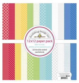 DOODLEBUG bar-b-cute: bar-b-cute petite print assortment pack
