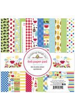 DOODLEBUG bar-b-cute: bar-b-cute 6x6 paper pad