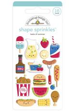 DOODLEBUG bar-b-cute: taste of summer shape sprinkles