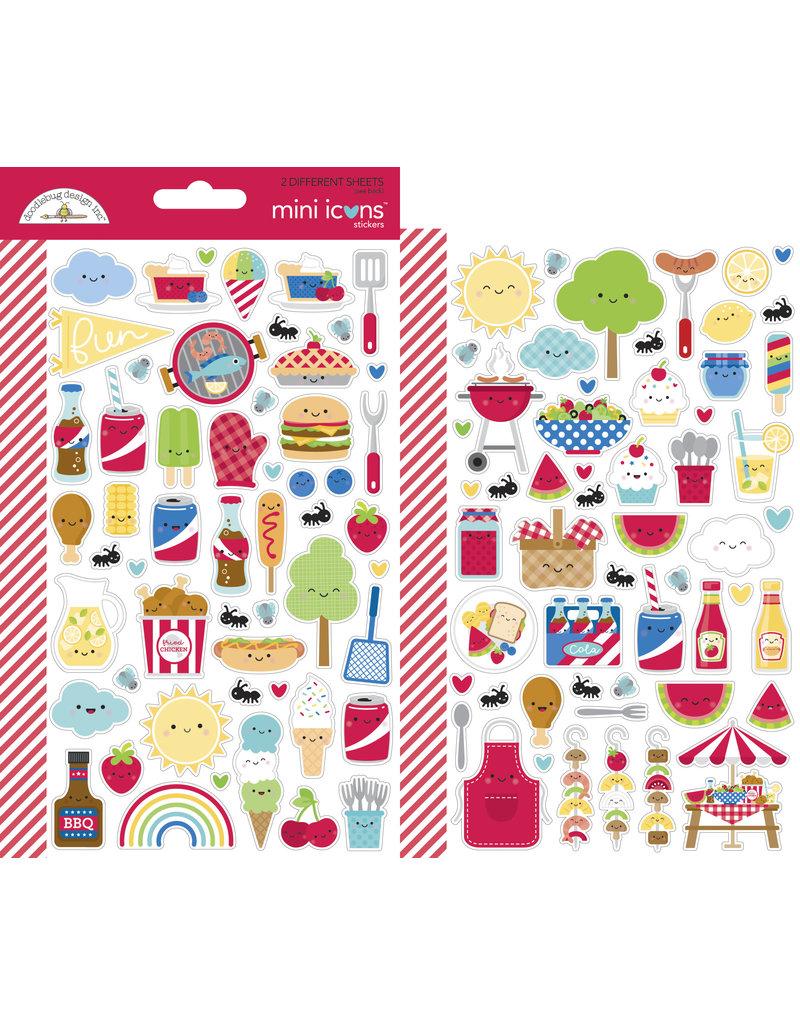 DOODLEBUG bar-b-cute: bar-b-cute mini icons sticker