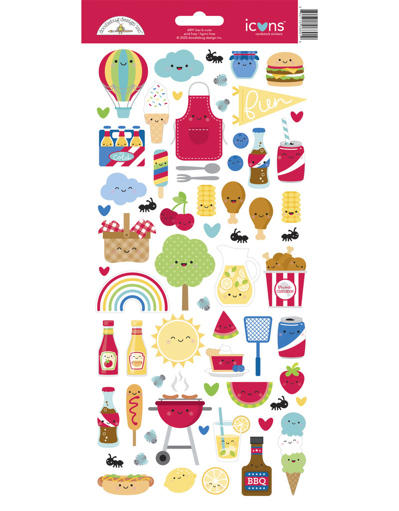 DOODLEBUG bar-b-cute: bar-b-cute icons sticker