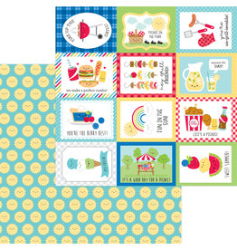 DOODLEBUG bar-b-cute: summer sun double-sided cardstock