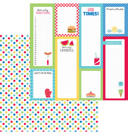 DOODLEBUG bar-b-cute: picnic spot double-sided cardstock