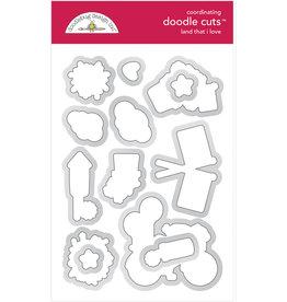 DOODLEBUG land that i love  : land that i love doodle cuts