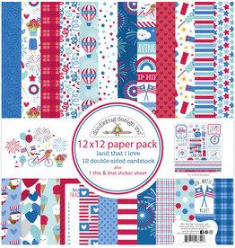 DOODLEBUG land that i love  : land that i love 12x12 paper pack