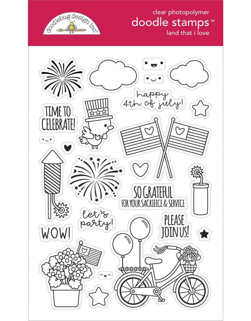 DOODLEBUG land that i love  : land that i love doodle stamps