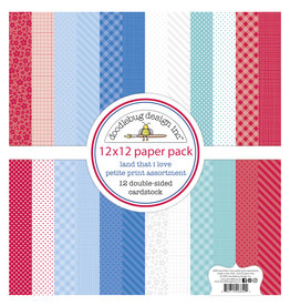DOODLEBUG land that i love  : land that i love petite print assortment pack