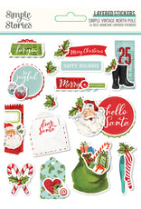 simple stories Simple Vintage North Pole: Layered Stickers