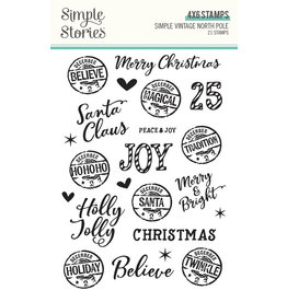 simple stories Simple Vintage North Pole: Stamps