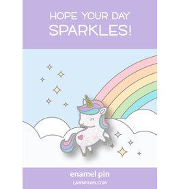 lawn fawn my little unicorn enamel pin