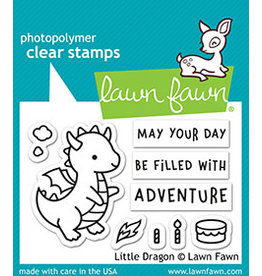 lawn fawn little dragon stamp