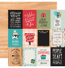 Echo Park EP Farmhouse Kitchen Paper: 3X4 Journaling Cards