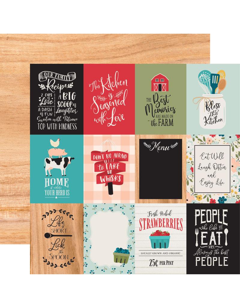 Echo Park EP Farmhouse Kitchen Paper: 3X4 Journaling Cards