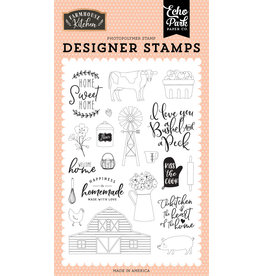 Echo Park EP Farmhouse Kitchen: Heart of the Home Stamp Set