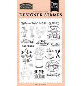 Echo Park EP Farmhouse Kitchen: Made with Love Stamp Set