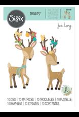 Jen Long Chritsmas Deer Thinlits Dies