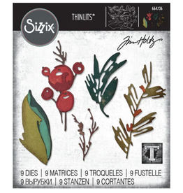 Tim Holtz Holiday Brushstroke Thinlits Dies