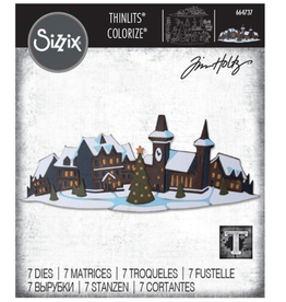 Tim Holtz Holiday Village Colorize Thinlit Dies