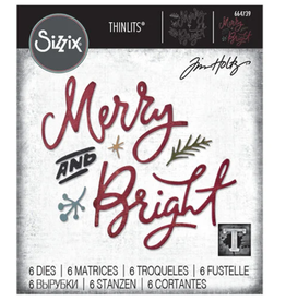 Tim Holtz Merry & Bright Thinlits Dies