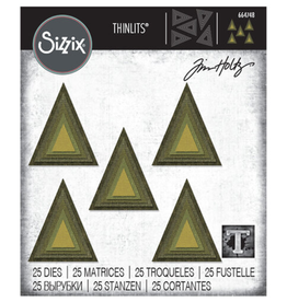 Tim Holtz Stacked Tiles Trianlges Thinlits Dies