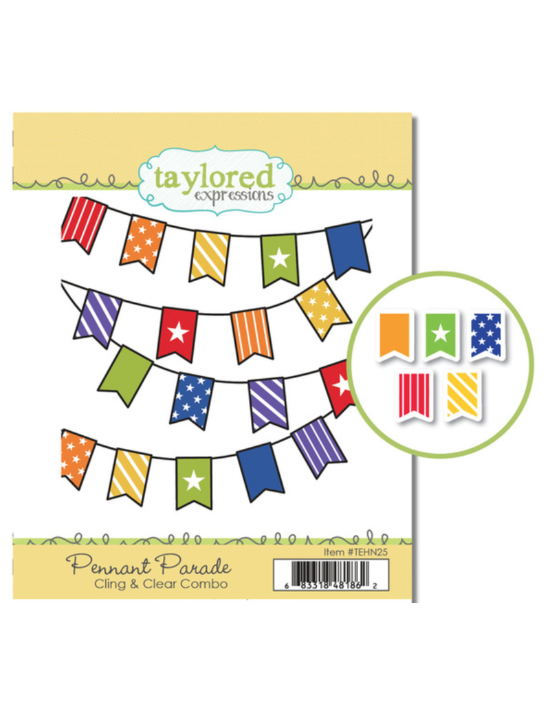 Taylored expressions Pennant Parade Stamp