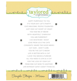 Taylored expressions Meow Simple Strips Stamp