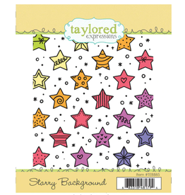 Taylored expressions Starry Background Stamp