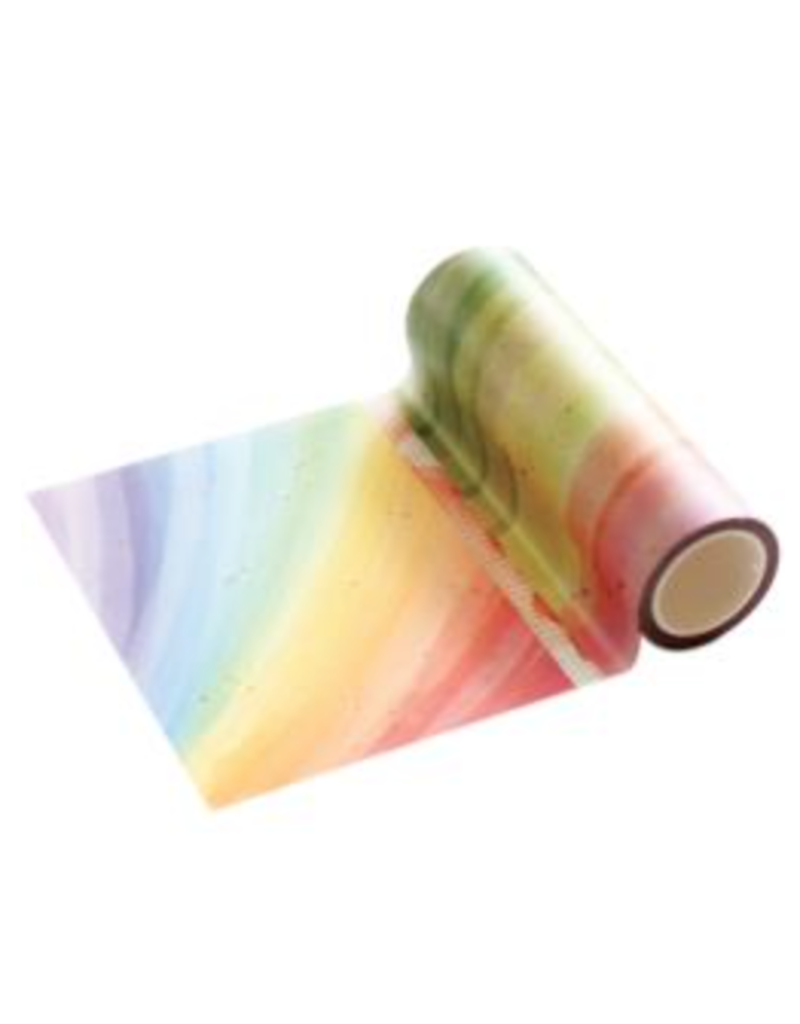 pink fresh Rainbow splatters washi tape