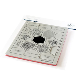 pinkfresh studios Pop Out: Hexagons cling stamp