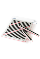 pinkfresh studios Pop Out: Diagonal Stripes cling stamp