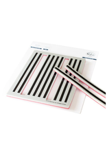 pink fresh Pop Out: Straight Stripes cling stamp