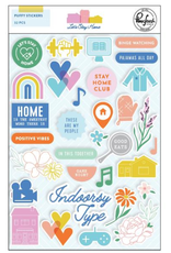 pinkfresh studios Let's stay home: Puffy stickers