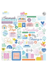 pink fresh Let's stay home: Ephemera pack