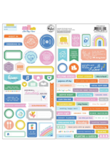pinkfresh studios Let's stay home: Cardstock stickers