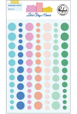 pink fresh Let's stay home: Enamel dots