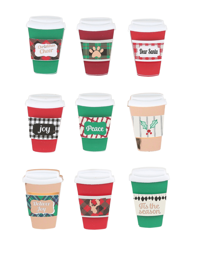 FSJ Christmas Cheer Coffee Cup Embellishments