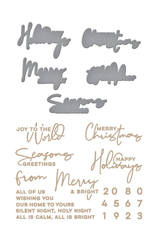 Yana Smakula Christmas Sentiments Die Set (Glimmer Hot Foil Plate)
