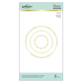 spellbinders Christmas Essential Glimmer Circles (Glimmer Hot Foil Plate)