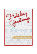 spellbinders Christmas Sweater Borders (Glimmer Hot Foil Plate)