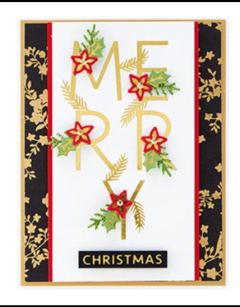 spellbinders Merry Salutations Die Set (Glimmer Hot Foil Plate)
