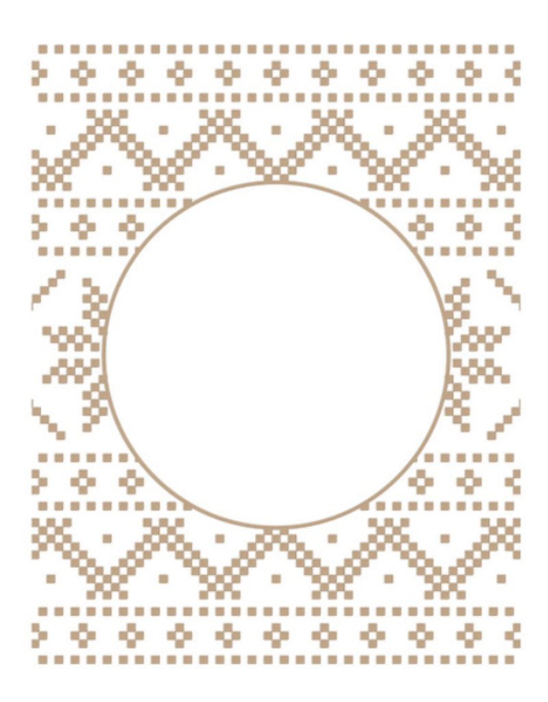 spellbinders Christmas Sweater Background (Glimmer Hot Foil Plate)