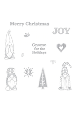 FSJ Gnome for the Holidays Red Rubber Stamp Set