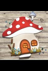 Elizabeth Crafts Mushroom House Folding Card Die