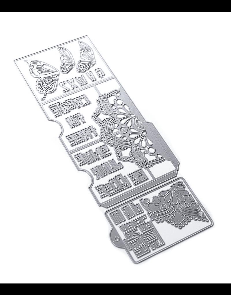 Elizabeth Crafts Butterfly Pocket Insert Die (Art Journal)